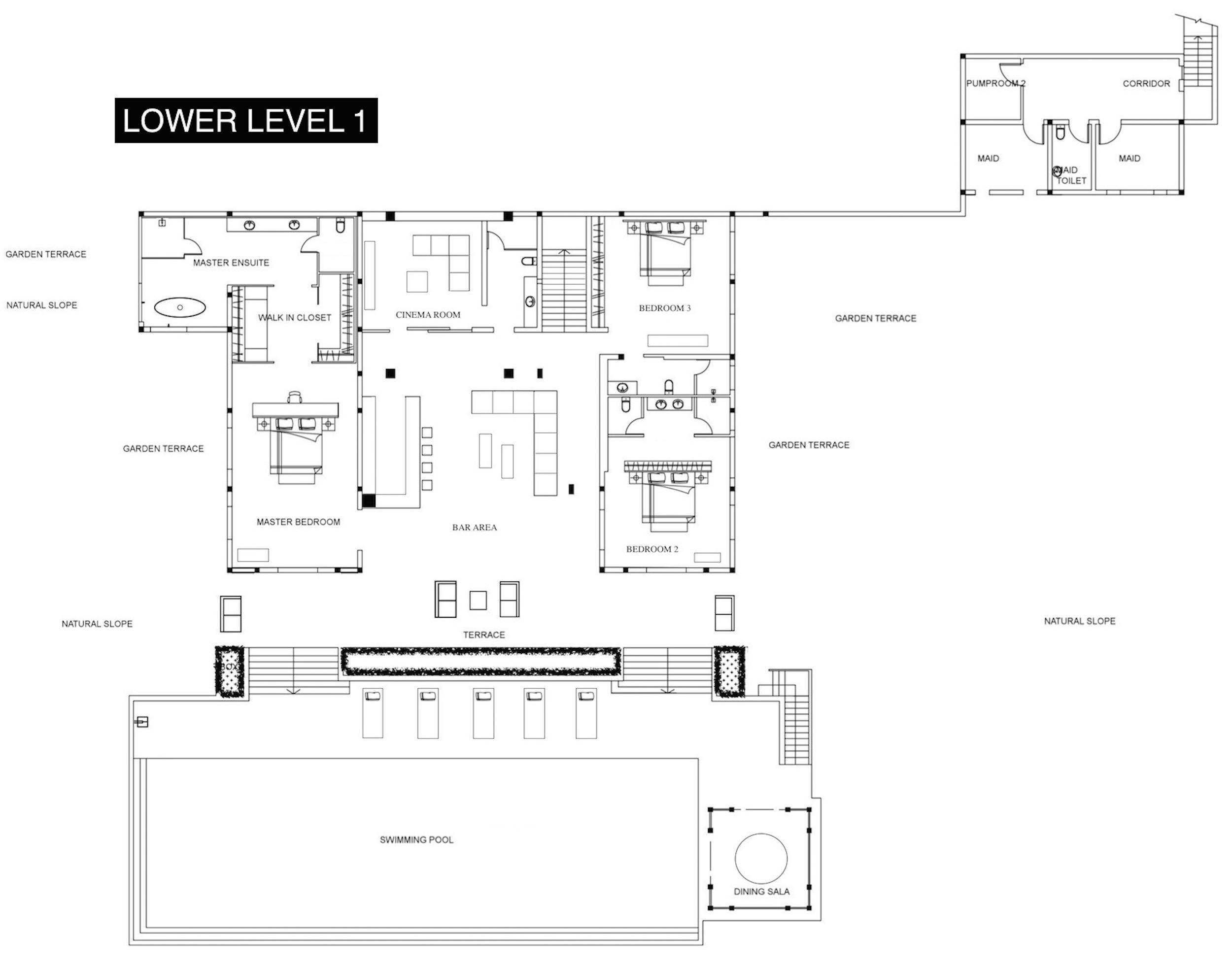 100 Villa Ocean's 11 Phuket - Lower Floor 1